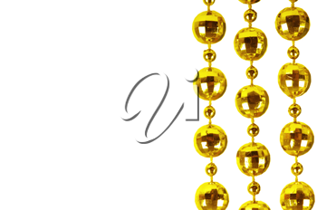 Background made of a brilliant celebratory beads of golden color