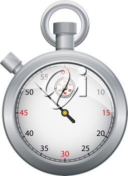 Royalty Free Clipart Image of a Stopwatch