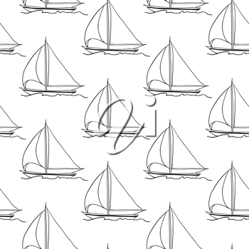 Royalty Free Clipart Image of Sailboats