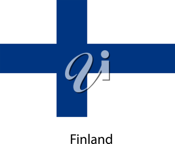 Flag  of the country  finland. Vector illustration.  Exact colors.
