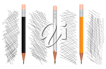 Royalty Free Clipart Image of Pencils