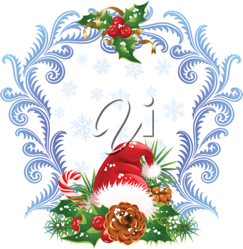 Royalty Free Clipart Image of a Christmas Border