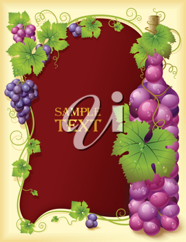 Royalty Free Clipart Image of a Wine Frame