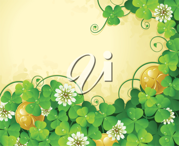 Royalty Free Clipart Image of a St. Patrick's Day Background