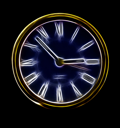 Royalty Free Photo of a Neon Clock