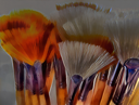 Royalty Free Photo of an Oil Painting of Brushes