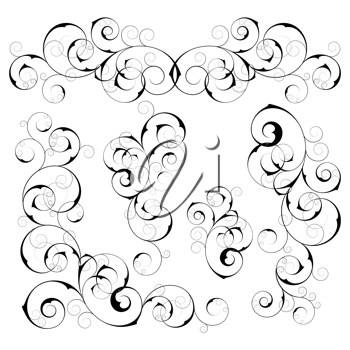Royalty Free Clipart Image of Swirls