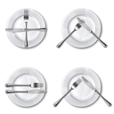 Character set cutlery in the restaurant. Isolated.Mesh.This file contains transparency.