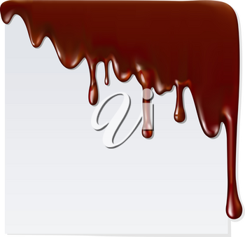 Melted chocolate Mesh. Clipping Mask.