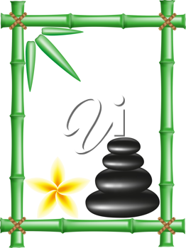 Royalty Free Clipart Image of a Bamboo Frame