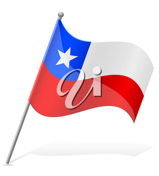 flag of Chile vector illustration isolated on white background