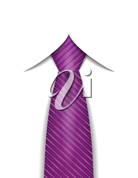 tie for men a suit vector illustration isolated on white background