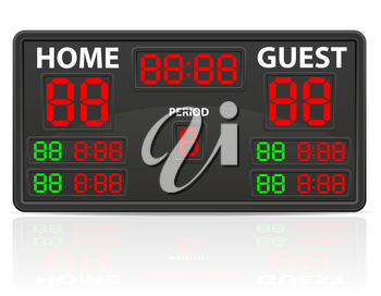hockey sports digital scoreboard vector illustration isolated on white background