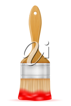 paint brush vector illustration isolated on background