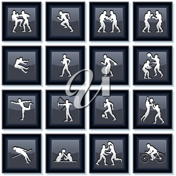 Sport Olympiad Icons, Buttons. Vector Set #1
