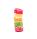 colored candy on white background background