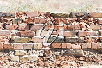 background of an old brick wall