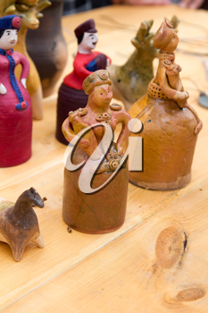 Russian figurines of clay