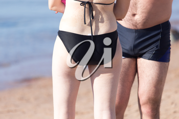 girl in a bathing suit on the beach