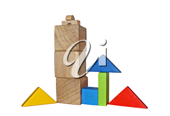 Wooden blocks for play - Montessori toys