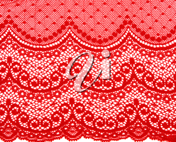 Royalty Free Photo of Decorative Red Lace