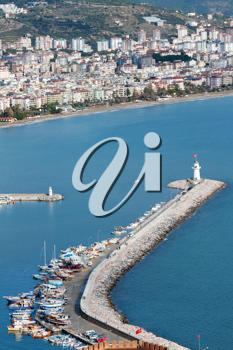 Royalty Free Photo of an Aerial of Alanya, Turkey
