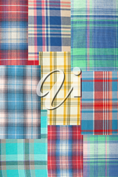 Royalty Free Photo of Plaid Patchwork