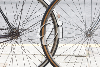 Royalty Free Photo of Bicycle Wheels
