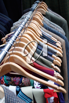 Royalty Free Photo of a Clothing Rack