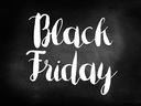 Black friday sale on blackboard