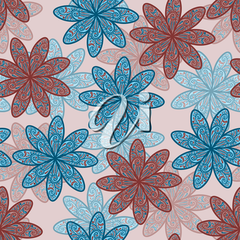Royalty Free Clipart Image of a Background of Flowers