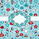 Royalty Free Clipart Image of a Background of Christmas Ornaments