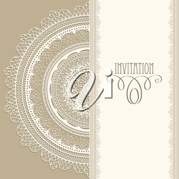 Royalty Free Clipart Image of an Invitation