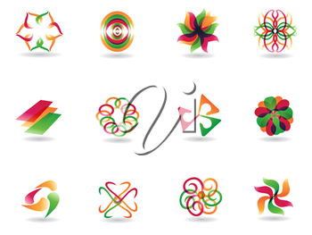 Royalty Free Clipart Image of Abstract Icons