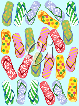 Royalty Free Clipart Image of Flip Flops