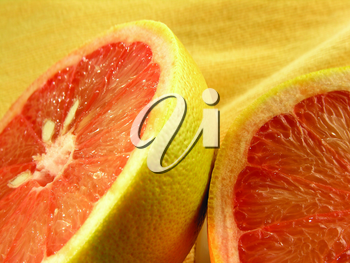 Royalty Free Photo of a Sliced Grapefruit