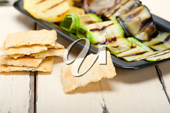 grilled assorted vegetables dressed with extra virgin olive oil