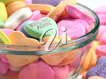 Royalty Free Photo of a Bowl of Candy Hearts