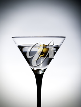 Royalty Free Photo of a Martini With an Olive