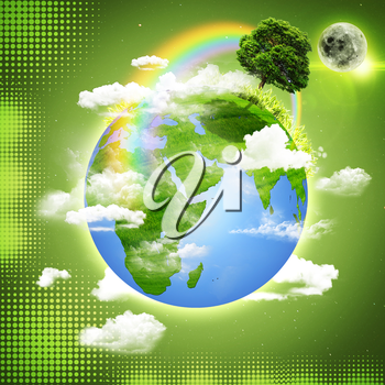 Green Earth. Abstract natural backgrounds