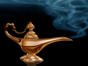 Royalty Free Clipart Image of a Lamp