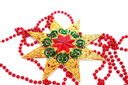 Royalty Free Photo of a Christmas Star and Garland