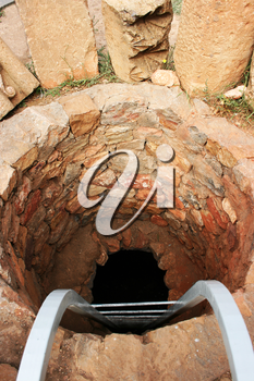 Royalty Free Photo of a Hole at the Noravank Monastery in Armenia