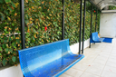 Royalty Free Photo of Blue Benches