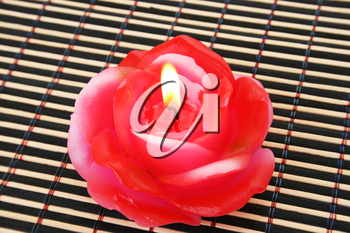 Royalty Free Photo of a Rose Candle