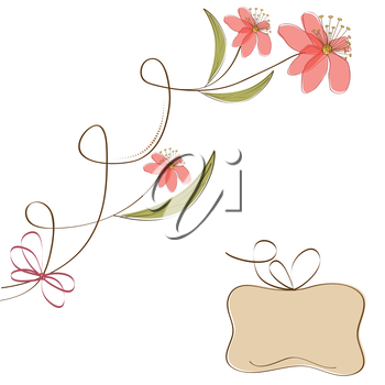 Royalty Free Clipart Image of a Flower Background With a Text Space