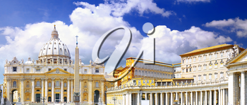 St. Peter's Basilica, St. Peter's Square, Vatican City. Panorama