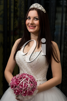 Bride Holding Her Wedding Flowers