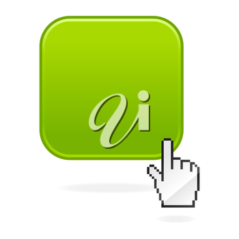 Royalty Free Clipart Image of a Cursor Over an Icon