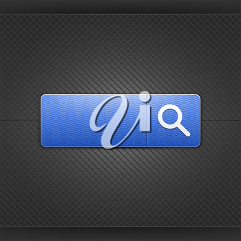 Royalty Free Clipart Image of a Search Bar Icon